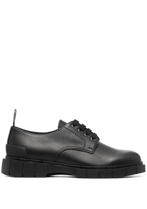 Car Shoe chunky leather derby shoes - Black