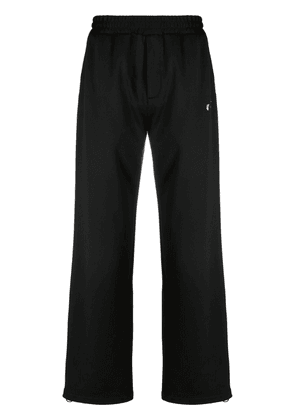 Off-White embroidered-logo track pants - Black