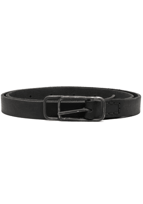 Boris Bidjan Saberi buckle-fastening leather belt - Black