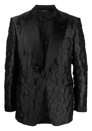 TOM FORD floral pattern single-breasted blazer - Black
