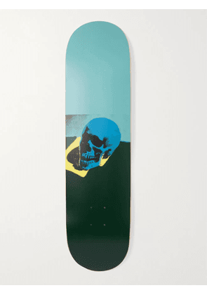 THE SKATEROOM - Andy Warhol Skull Series Printed Wooden Skateboard - Men - Blue