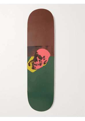 THE SKATEROOM - Andy Warhol Skull Series Printed Wooden Skateboard - Men - Pink
