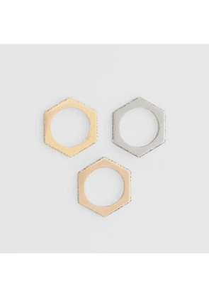 Burberry Crystal Rose Gold, Palladium, Gold-plated Nut Rings