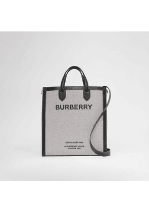 Burberry Horseferry Print Canvas and Leather Tote