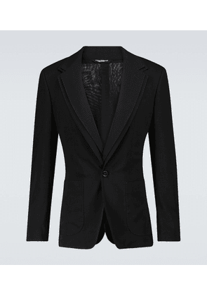Deconstructed wool gauze blazer