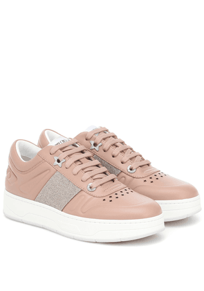 Hawaii/F leather sneakers
