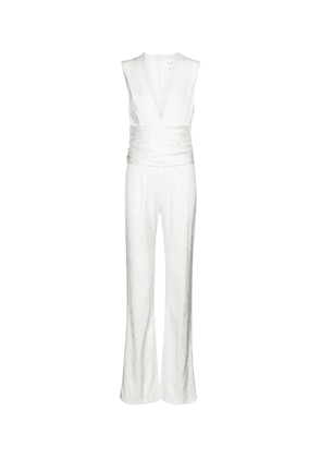 Tribeca crêpe bridal jumpsuit