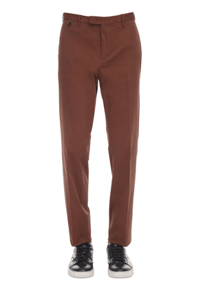 Stretch Cotton Blend Slim Fit Pants