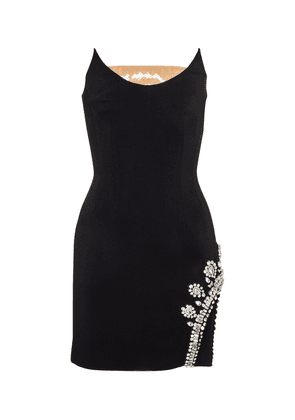 Embellished strapless cady minidress