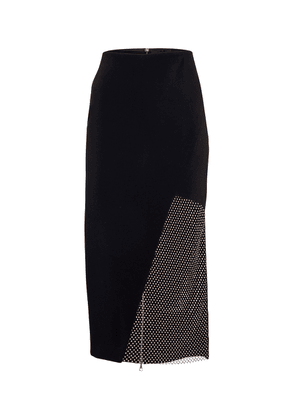 Crystal-embellished cady pencil skirt