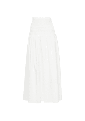 Cecil smocked cotton maxi skirt