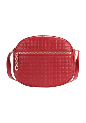 Medium C Charm Camera Bag In Quilted Calfskin