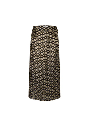 Long Pleated Skirt In Jacquard Triumph Pattern