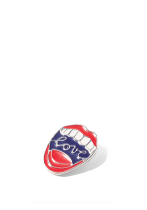 Chloé - Love Lips Lacquered Pin - Womens - Red Multi