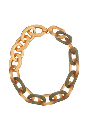 Marni - Oversized Chain-link Necklace - Womens - Gold Multi