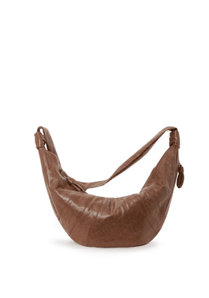 Lemaire - Croissant Small Coated-linen Cross-body Bag - Womens - Tan
