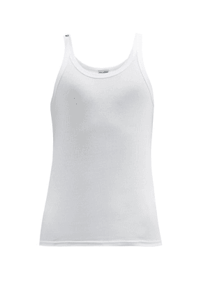 Dolce & Gabbana - Sicily Ribbed Cotton-jersey Tank Top - Mens - White