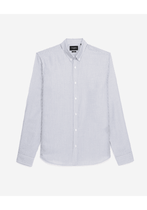 The Kooples - Striped shirt w/classic collar & embroidery - MEN