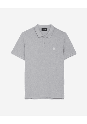 The Kooples - Grey polo with classic collar & embroidery - MEN
