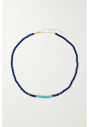 Sydney Evan - 14-karat Gold Multi-stone Necklace - Blue