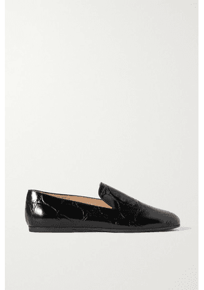 Tod's - Croc-effect Leather Loafers - Black