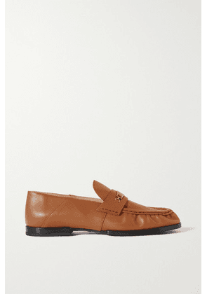Tod's - Embellished Leather Loafers - Camel