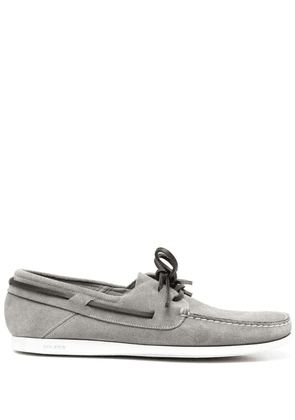 Car Shoe lace-detail suede loafers - Grey