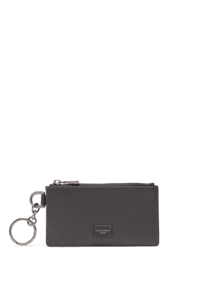 Dolce & Gabbana logo plaque zipped cardholder - Grey