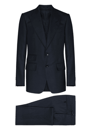 TOM FORD Prince of Wales two-piece suit - Blue