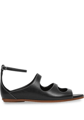 Burberry cut-out leather sandals - Black