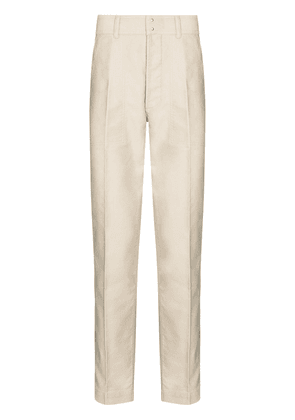 TOM FORD brushed straight-leg trousers - Neutrals