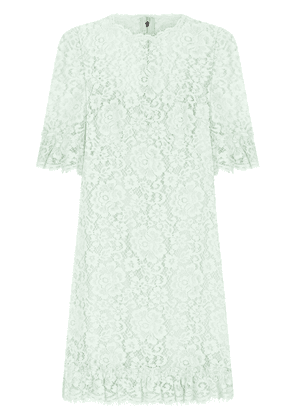 Dolce & Gabbana floral lace cocktail dresss - Green