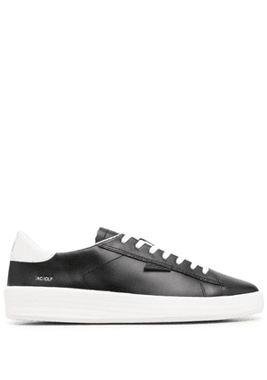 D.A.T.E. leather low-top sneakers - Black