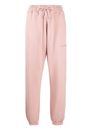 Filling Pieces embroidered-logo cotton joggers - Pink
