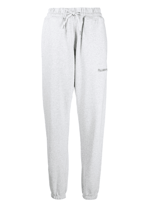 Filling Pieces embroidered-logo cotton joggers - Grey