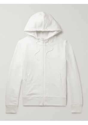 Y-3 - Logo-Appliquéd Loopback Cotton-Jersey Hoodie - Men - White - XS