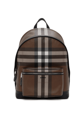 Burberry Brown E-Canvas Giant Check Backpack