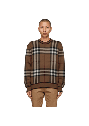 Burberry Brown Check Naylor Sweater
