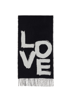 Burberry Black Cashmere Giant Check Love Scarf