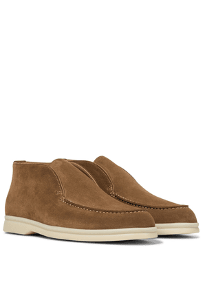 Open Walk suede ankle boots