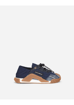 Dolce & Gabbana Shoes (24-38) - Denim patchwork NS1 sneakers BLUE female 29