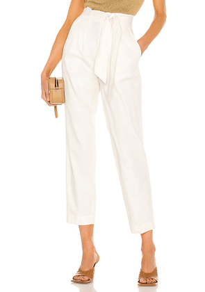 Brochu Walker Andrei Belted Pant in White. Size S, M, L.