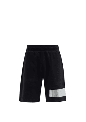 Givenchy - 3d Logo-tape Cotton-jersey Shorts - Mens - Black