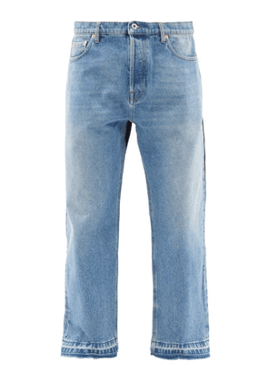 Valentino - Patchwork Mid-rise Straight-leg Jeans - Mens - Blue