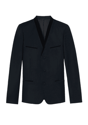 The Kooples - FIT cut flannel jacket with small velvet collar - MEN