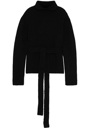 Ellery Cairs Oversized Ribbed Wool-blend Turtleneck Sweater Woman Black Size S