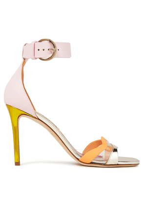 Emilio Pucci Color-block Leather And Pvc Sandals Woman Pink Size 41