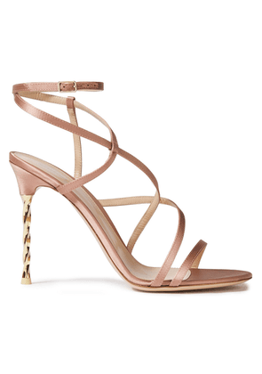Gianvito Rossi Embellished Satin Sandals Woman Blush Size 36