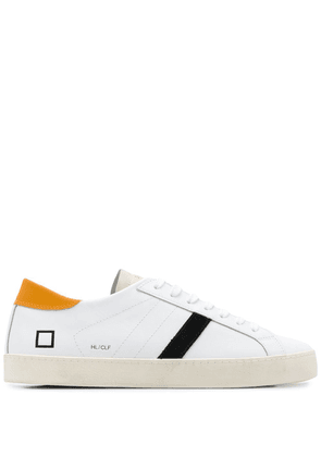 D.A.T.E. contrasting panel low-top sneakers - White