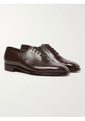 GEORGE CLEVERLEY - Alan 3 Whole-Cut Leather Oxford Shoes - Men - Brown - UK 7